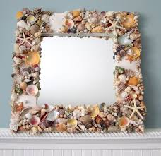 Nautical Wall Mirrors Seashell Mirror Beach Decor Shell Mirror Nautical Decor