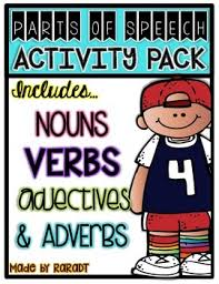 nouns verbs adjectives adverbs common core aligned activities