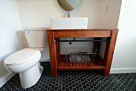 modern farmhouse bathroom vanity tutorial decor and the dog
