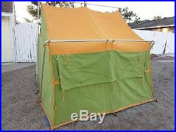 camel tents vintage camel mfg co green orange canvas cing tent 8 x 7