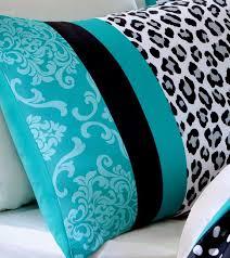 Queen Bedding Sets For Girls by Teen Girls Black Teal Bedding Comforter Damask Leopard Full Queen