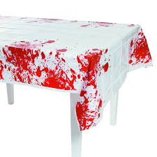 themed table cloth express blood table cover party decor toys