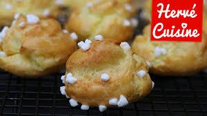 donuts hervé cuisine recette facile pâte à choux pour chouquettes
