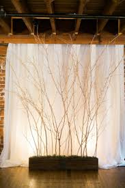 wedding backdrop ideas rustic tree branched wedding backdrop tulle chantilly wedding
