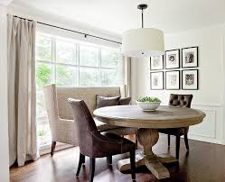 banquette dining table dining room contemporary with wall art