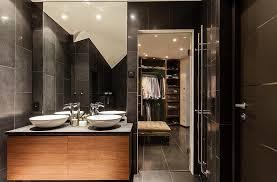 Open Bathroom Design by Bathroom With Walk In Closet