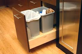 garbage can under the sink slide out kitchen trash can under sink pullout trash can in the