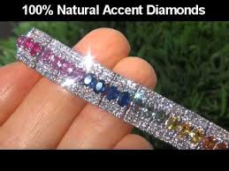 colored tennis bracelet images Vivid 12 80 carat multi colored sapphire diamond bracelet jpg