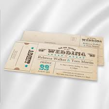 carnival ticket wedding invitation ireland weddingprint ie