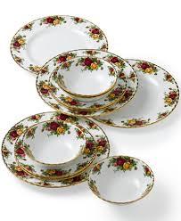 royal albert country roses 12 dinnerware set a macy s