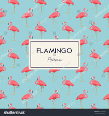 pink color scheme lovely pink flamingo vector flat seamless stock vector 317353559