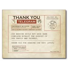 telegram wedding invitation telegram thank you card for wedding postcard superdazzle