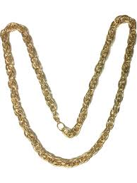 gold costume necklace images 80s rapper gangster costume gold cable chain necklace jpg