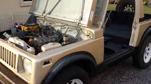 suzuki jimny sj410 1985 suzuki sj410 with honda cbr600rr exhaust cold start and revs