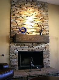 dry stack stone veneer fireplace installation designs cost dry