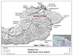 Lightning Strike Map Smokejumpers Respond To Lightning Strike Fire On Santa Cruz Island