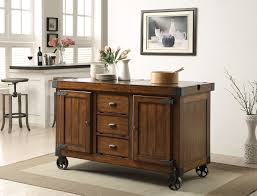 acme 98186 antique tobacco finish kitchen cart