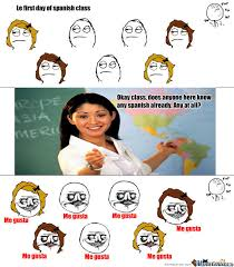 Funny Memes In Spanish - me gusta spanish class by recyclebin meme center