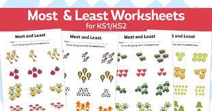 most and least u2013 number worksheets for ks1 ks2 maths teachwire