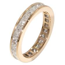 gold eternity rings 18ct yellow gold 2 7 carat princess diamond eternity ring