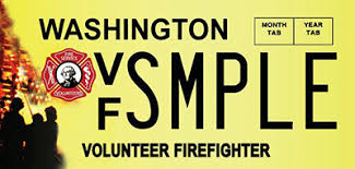 Vanity Plates Washington Wa State Licensing Dol Official Site Volunteer Firefighter