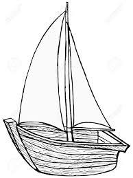 drawn sailing boat hand drawn pencil and in color drawn sailing