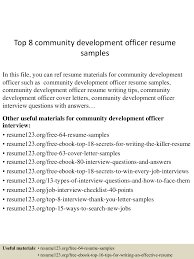 Job Interview Resume Questions by Top8communitydevelopmentofficerresumesamples 150522125353 Lva1 App6891 Thumbnail 4 Jpg Cb U003d1432299277