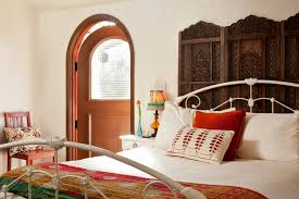 bright wrought iron bed frames in bedroom eclectic with pallet bed