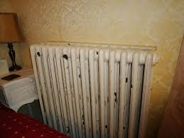 paint coming of the heater in the bedroom picture of the
