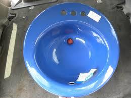 nos vintage kohler dark blue oval bathroom sink drop in 19 cast