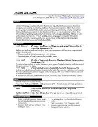 Resume Template Usa Sle Format Resume Curriculum Vitae Sle Format Curriculum