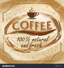 artistic coffee coffee poster artistic background eps10 elements stock vector