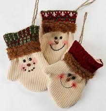 primitive snowman mitten ornaments ornaments