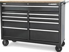 husky tool chest home depot black friday husky 46 in 9 drawer mobile workbench with solid wood top black