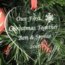Couple First Christmas Ornament Couple U2013 Nicely Personalised