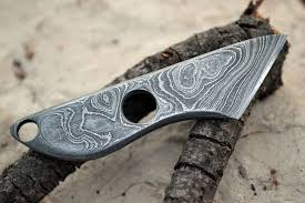 pattern welding gold forged damascus steel pocket knife w common tools