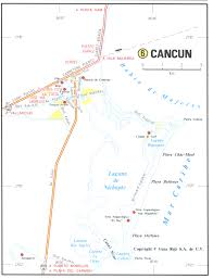 Road Map Of Mexico by Map Of Cancun Mexico Area Evenakliyat Biz