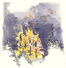 fire sketching and sketchbooks