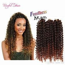 hair for crochet weave 2018 freetress deep wave hair crochet braids 10inch kinky synthetic