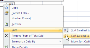 Sort A Pivot Table Sort Pivot Table Field Left To Right Excel Pivot Tablesexcel