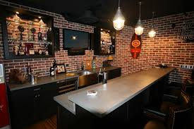 bar decor interior basement sports bar intended for splendid home decor