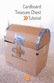pirate week day 4 cardboard treasure chest tutorial create in