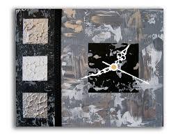Pendules Murales Cuisine by Tableau Horloge Pendule Murale Gris Noir Blanc Salon Cuisine