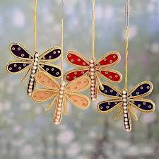 beaded ornaments dragonflies heralds set of 4 shop from