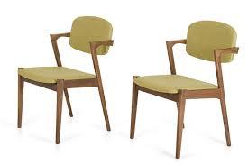 Modern Fabric Chairs Modern Green Tea Fabric Dining Chair Set Of 2