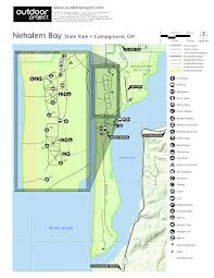 map of oregon state parks nehalem bay state park cground outdoor project