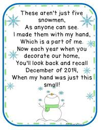 free five snowmen poem and ornament idea kindergartenklub