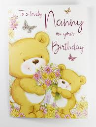 to a lovely nanny birthday card traditional luxury cute verse