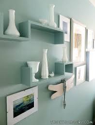 Aqua Bedroom Decor by Aqua Painted Shelves Opal Silk Behr Vintage Milk Glass Living Room