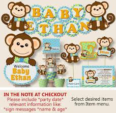 baby shower monkey boy monkey baby shower decorations monkey birthday